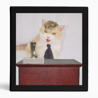 Funny Boss Cat 3 Ring Binders