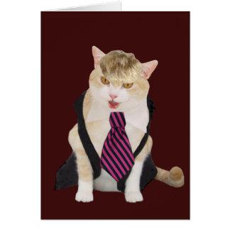 Funny Boss Cat Valentine Card