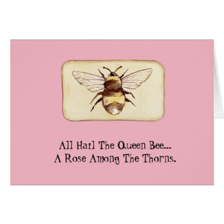Funny Bossy Queen Bee Birthday Card