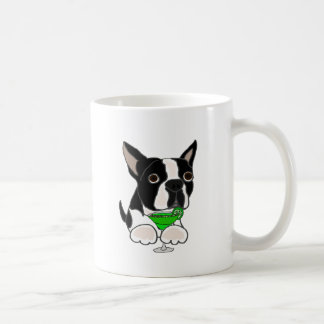 Funny Boston Terrier Dog Drinking Margarita Coffee Mug