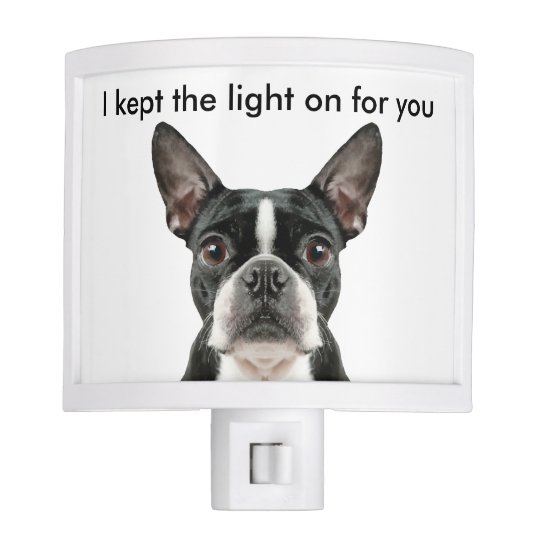 Funny Boston Terrier Night Light