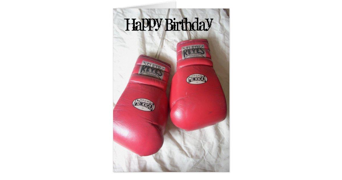 Funny boxing gloves birthday card zazzle