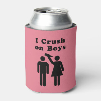 Funny Boy Crush Bottle Humor for Women Can Cooler