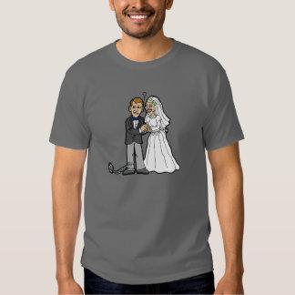 Funny Bride & Groom t-shirt