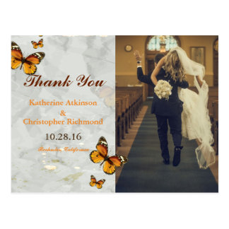 funny bride kidnapping/butterfly postcard