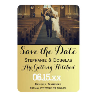 "funny bride kidnapping/Save The Date 5"" X 7"" Invitation Card"
