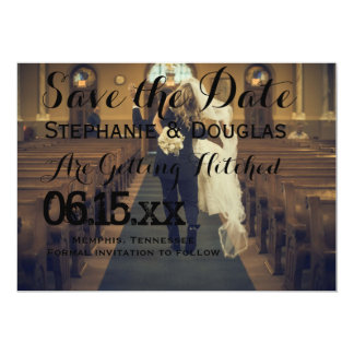 funny bride kidnapping/Save The Date Card
