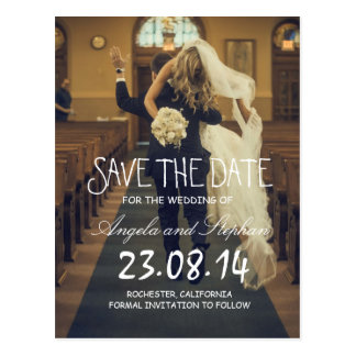 funny bride kidnapping/Save The Date Postcard