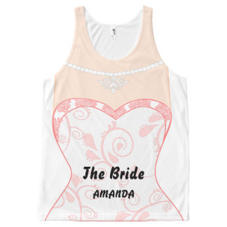 Funny brides dress All-Over-Print tank top