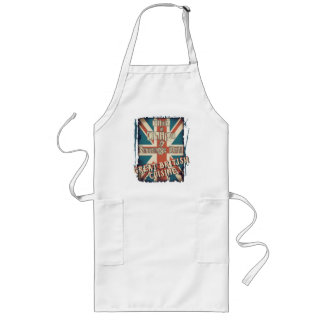 Funny British Fish And Chips Union Jack Long Apron