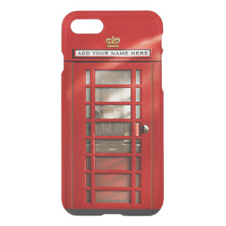 Funny British Red Phone Booth Personalized iPhone 8/7 Case