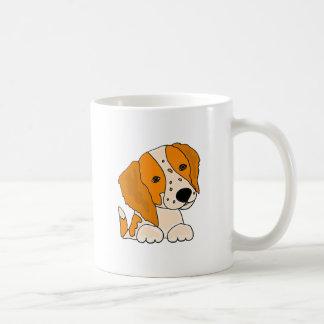 Funny Brittany Spaniel Puppy Dog Art Coffee Mug