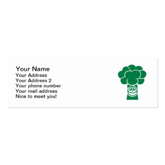 Funny broccoli face pack of skinny business cards