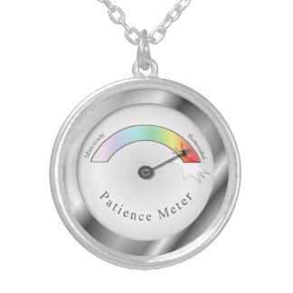 Funny Broken Patience Meter Necklace