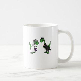 Funny Brontosaurus Wedding Art Coffee Mug