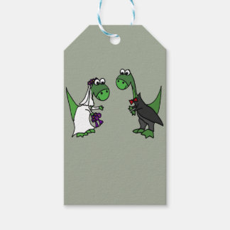 Funny Brontosaurus Wedding Art Gift Tags