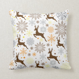 Funny Brown Christmas Pattern Throw Pillow