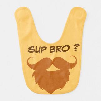 Funny Brown Mustache Bib