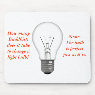 Funny Buddhist Light Bulb Mouse Mat Mouse Pad