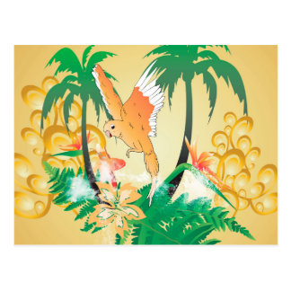 Funny budgerigars postcard