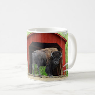 Funny Buffalo Covered Bridge Creative Photography Coffee Mug