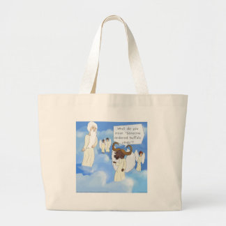 Funny Buffalo Wings In Heaven Gift Large Tote Bag