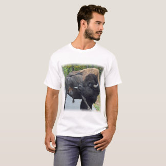Funny Bull Bison Licking His Testicles T-Shirt