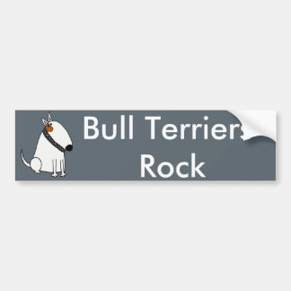 Funny Bull Terrier Dog Art Bumper Sticker