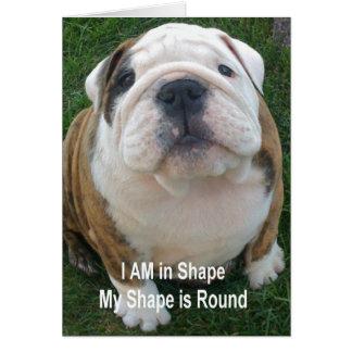 Funny Bulldog Dog Card Notecard Creationarts