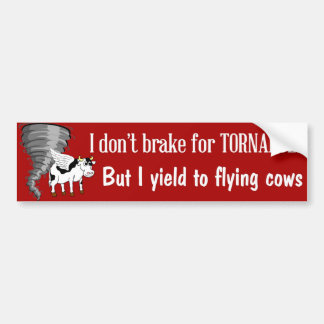 Funny bumper sticker yield to flying cows