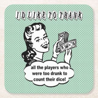 Funny Bunco Coaster - I'd Like To Thank