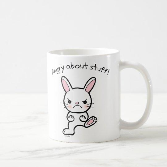 Funny Bunny Mug Angry Cute bunny Rabbit mug