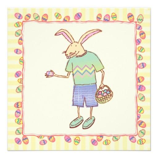 Funny Bunny Party Invite
