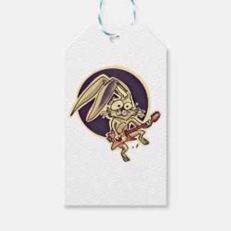 funny bunny sweet rabbit playing guitar cartoon gift tags