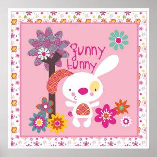 funny bunny wall art