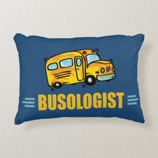 Funny Bus Driver Accent Pillow