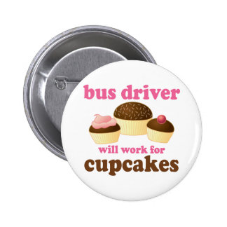 Funny Bus Driver Buttons
