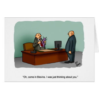 """Funny Business Humor """"Mondays"""" Greeting Card"""