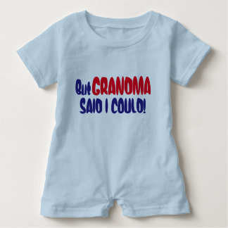 "Funny ""But Grandma Said I Could"" Baby Romper"