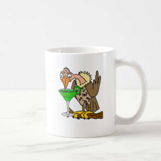Funny Buzzard or Vulture Drinking Margarita Coffee Mug