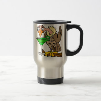 Funny Buzzard or Vulture Drinking Margarita Travel Mug