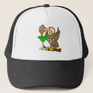 Funny Buzzard or Vulture Drinking Margarita Trucker Hat
