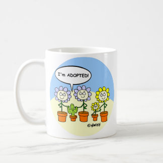 Funny Cactus and Flowers Cute Cartoon Southwest Coffee Mug