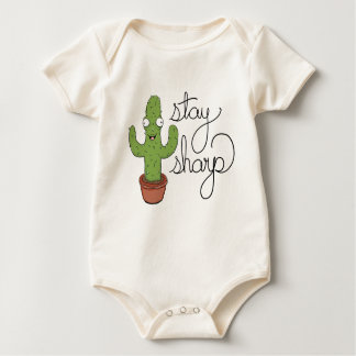 Funny Cactus Stay Sharp Baby Onsie Baby Bodysuit