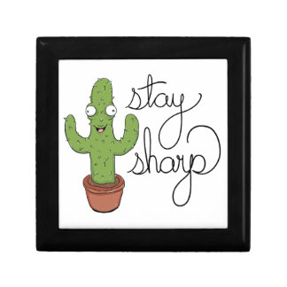 Funny Cactus Stay Sharp Character Gift Box