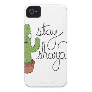 Funny Cactus Stay Sharp Character iPhone 4 Case-Mate Case