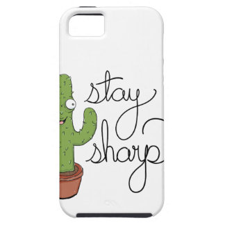 Funny Cactus Stay Sharp Character iPhone 5 Cover