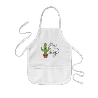 Funny Cactus Stay Sharp Character Kids Apron