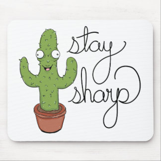 Funny Cactus Stay Sharp Character Mouse Pad