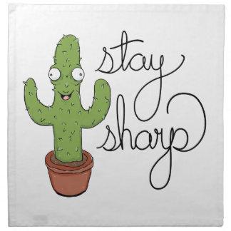 Funny Cactus Stay Sharp Character Napkin